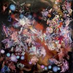 Discovery of Longitude, 2014  oil and resin on canvas 180 x 175 cm