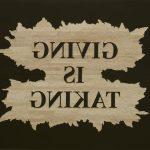 Giving is Taking, 2015  Woodcut 2 parts, 160 x 250 cm Unique