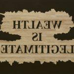 Wealth is Legitimate, 2015  Woodcut 2 parts, 160 x 250 cm Unique