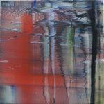 Kleines rotes Wasser, 2019, Oil on canvas, 60 x 60 cm