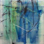 Matthias Meyer, Emerald, 2019, Oil on canvas, 100 x 90 cm