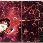 Steigbild VIII, 1997, Farbfotografie, Acryl Stahlrahmen, 300 x 500 cm (4 Teile je 300 x 125 cm)