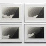 Maurizio Nannucci, Scrivere sull'Aqua (Writing on Water), 1973, gelatin silver prints, each 36 x 45.3 cm, framed