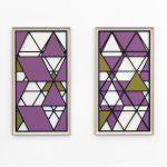 Silke Wagner, Barrikade Modell 1+2, 2018, Silkscreen on carton each 101,7 x 53,7 cm, framed