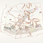 Rauchfahne, 2014  Oil, pencil, crayon on paper 50 x 65 cm