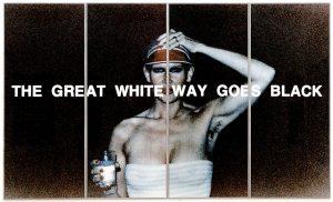 THE GREAT WHITE WAY GOES BLACK, 1977, C-Print, Acrylic,Steel, 300 x 500 cm